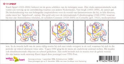 Karel Appel postzegelvel