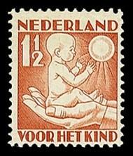 NVPH 232 Kinderzegel 1930 - lente, jong kind