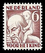 NVPH 234 Kinderzegel 1930 - herfst St Christoffel