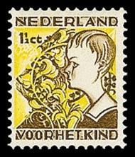 NVPH 248 Kinderzegels 1932 - jongen met brem