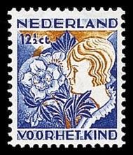 NVPH 251 Kinderzegels 1932 - meisje met kerstroos