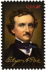 edgar-allan-poe-postzegel-2009-42c
