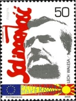 macedonie-postzegel-lech-walesa