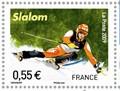 kampioenschappen-skien-val-disere-2009-frankrijk-postzegel