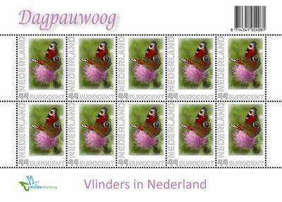 persoonlijke-postzegel-vel-dagpauwoog-2009