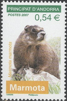 1-postzegel-marmota-marmota-alpenmarmot-murmeltier-andorra-2007-postzegelblog