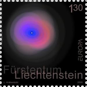 astronomie-liechtenstein-2009-postzegel
