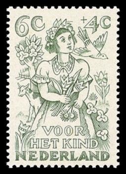 NVPH 546 - Kinderzegel 1949 - lente