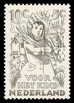 NVPH 547 - Kinderzegel 1949 - winter