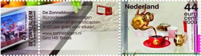 tnt-jubileumzegel-de-zonnebloem-2009-postzegel