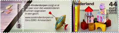 tnt-jubileumzegel-sos-kinderdorpen-2009-postzegel