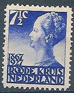 wilhelmina-postzegel