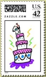 1-persoonlijke-postzegel-zazzle-bruidstaart