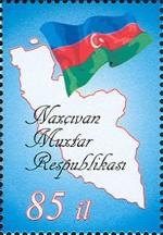 azerbeidzjan_nachitsjevan_vlag_landkaart
