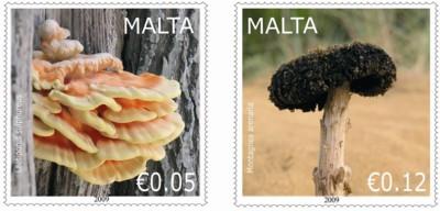 fungi_paddestoelen_malta_2009_postzegels_1