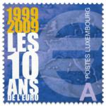 10jaar_euro_postzegel_luxemburg_2009