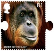 4-postzegel-orang-oetan-groot-brittanie-2009