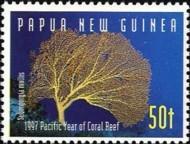 6-postzegel-koraal-papoea-niieuw-guinea-1997