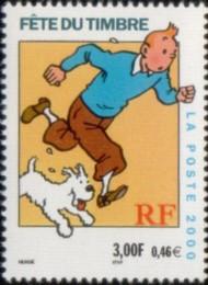 35-postzegel-kuifje-frankrijk-2000