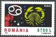 5-postzegel-kreeft-roemenie-2002