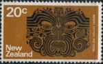 5 postzegel tatoeage Nieuw Zeeland 1970 Maori tattoo pattern