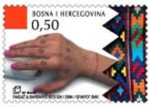 6 postzegel tatoeage Bosnie Herzegovina (Kroatie) 2004