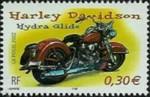 1 postzegel Harley Davidson Hydra Glide Frankrijk 2002