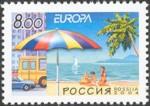 1 postzegel vakantie Rusland  2004