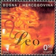 3 postzegel Leeuw Bosnië Herzegovina 2004