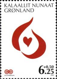 11 postzegel strijd tegen kanker Groenland 2009 Greenland Cancer Society