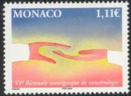 2 postzegel strijd tegen kanker Monaco 2004 6th Biennial conference of Cancer Research