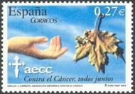 3 postzegel strijd tegen kanker Spanje 2004 50th Anniversary of the Spanish Cancer Association