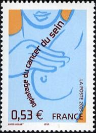 5 postzegel strijd tegen kanker Frankrijk 2005 Screening for Breast Cancer