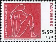 7 postzegel strijd tegen kanker Denemarken 2008 The Danish Cancer Society - Breast Cancer