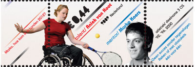 rolstoeltennis-postzegel