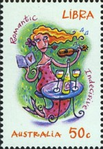 1 postzegel Weegschaal Australië 2007