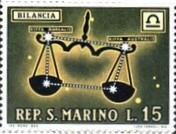 2 postzegel Weegschaal San Marino