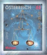 5 postzegel Weegschaal Oostenrijk 2005