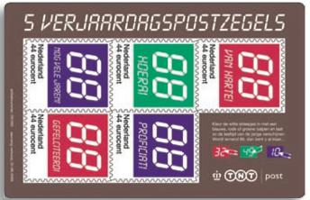 Verjaardagpostzegels-creditcard