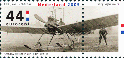 NVPH 2681 - Anthony Fokker in zijn Spin