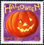 1 postzegel Halloween Frankrijk 2001