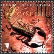 6 postzegel sterrenbeeld  Schorpioen Bosnië Herzegovina 2004