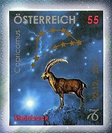 8 postzegel Steenbok Oostenrijk 2005