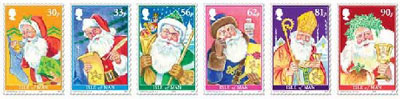 FatherChristmas-isle-man-stamps