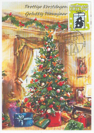 Maximumkaart-kerstboom