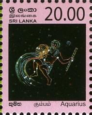 3 postzegel Waterman Sri Lanka 2007