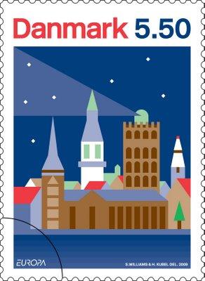 danmark-astronomy-stamp