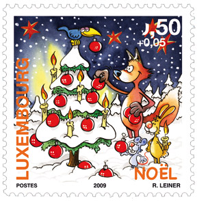 stamp-christmas-2009-luxembourg