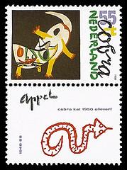 postzegel karel appel