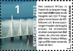 Postzegel Millau-  125 jaar Arcadis & KNHM